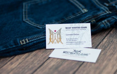 Custom printed buisness cards with watermark by Black Tie Press