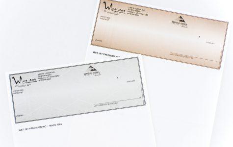 custom printed business checks by Black Tie Press