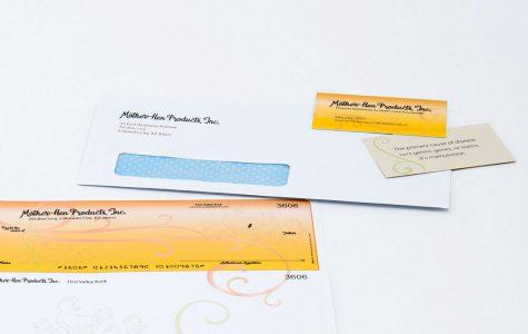 Custom printed envelope by Black Tie Press