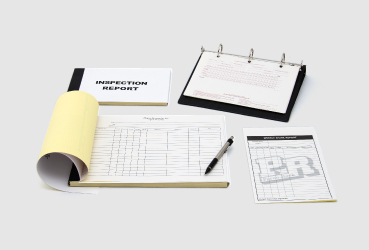 Custome printed forms by Black Tie Press